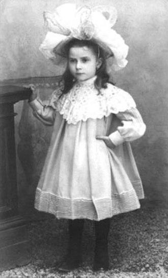 Maria Valtorta - Maria Valtorta at age 5, 1902