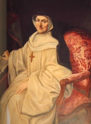 Choir dress - Choir Dress of a cistercian nun: a long white Cowl