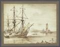 Marine, links ein Dreimaster, rechts ein Leuchtturm (SM 1220z).png