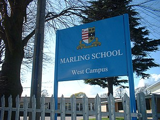 Marling School - Image: Marling Sign