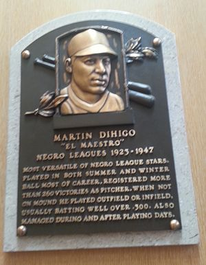 Martín Dihigo - Plaque of Martín Dihigo at the Baseball Hall of Fame
