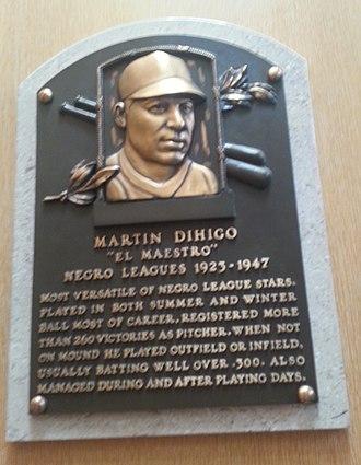 Martín Dihigo - Plaque of Martín Dihigo at the Baseball Hall of Fame