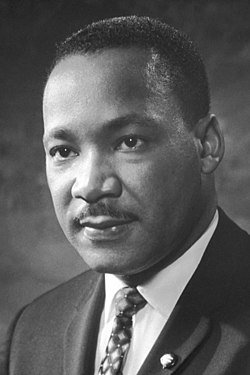April 4: Martin Luther King Jr. is assassinated at the Lorraine Motel in Memphis, Tennessee. Martin Luther King, Jr..jpg