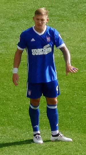 Martyn Waghorn - Martyn Waghorn on his Ipswich Town league debut in 2017