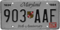 Maryland license plate, 1984 with 1986 sticker.png