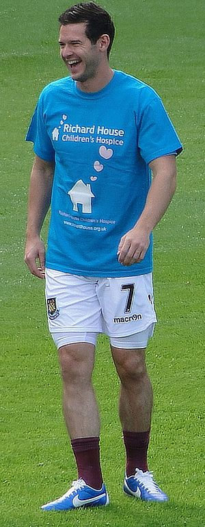 Matt Jarvis - Jarvis training with West Ham United in 2012
