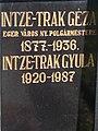 Mayor Géza Intze-Trak in Hatvani Cemetery, Eger, 2016 Hungary.jpg