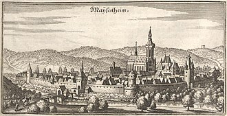 Meisenheim - Maÿsenheim in the 17th century (Matthäus Merian)