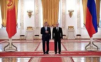 Almazbek Atambayev - Atambayev in Moscow in 2017.