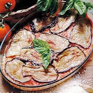 Parmigiana - Image: Melanzane alla parmigiana