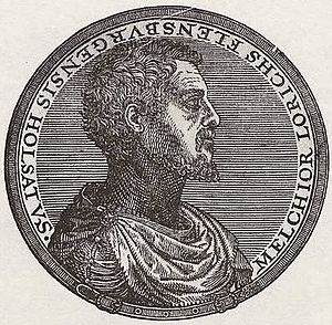 Melchior Lorck - Self portrait 1575
