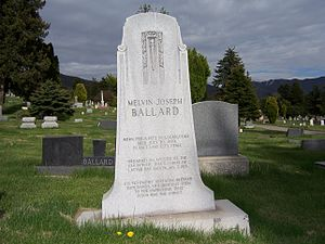 Melvin J. Ballard - Image: Melvin J Ballard Grave West