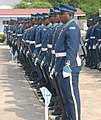 Members of the Kofi Annan International Peacekeeping Training Center honor guard stand in formation during a welcoming ceremony for Ivory Coast Gen. Soumaila Bakayoko, the Economic Community of West African 130626-A-ZZ999-010.jpg