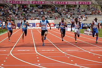 Stade Sébastien Charléty - Image: Men 100 m French Athletics Championships 2013 t 153313