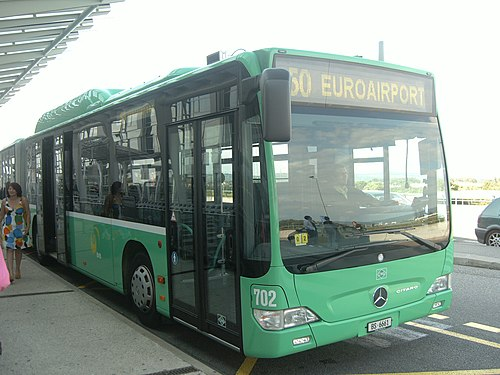 BVB 50 EuroAirport Getting to Basel Airport (BSL / MLH / EAP ) is easiest by public transportation bus and train from Switzerland, Germany, and France.