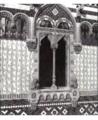Messina, finestra, Palazzo del Granchio o Banco Cerruti o Palazzo Coppedè, Via Garibaldi..png