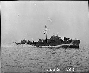 Fairmile C motor gun boat - Image: Mgb 316 FL16320