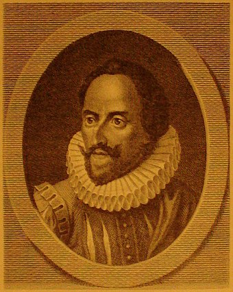 Cervantes: Image from a 19th-century German book on the history of literature. - Miguel de Cervantes