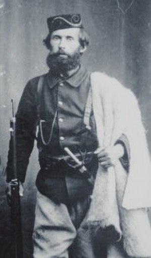Mihal Grameno - Mihal Grameno in revolutionary uniform during the Albanian National Awakening