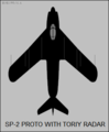 Mikoyan-Gurevich SP-2 top-view silhouette.png