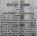 Military Orders-Allotment of Warwick Camp-October-November 1931.jpg