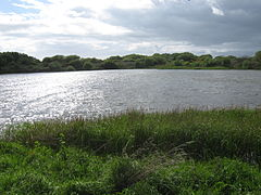 Millom - water near Hodbarrow nature reserve.JPG