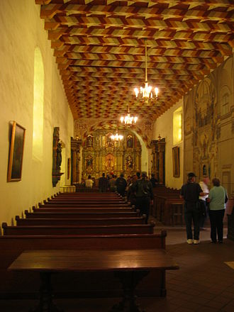 Mission San Francisco de Asís - The interior of the Mission chapel.