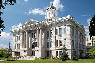 Montana District Courts - The Missoula County Courthouse, seat of the 4th Judicial District of the Montana District Court (which covers Mineral and Missoula counties).