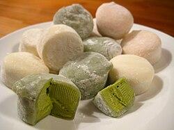 Mochi ice cream sold in Japan