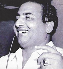 Mohammed Rafi - (24 December 1924 – 31 July 1980) was an Indian playback singer. He is considered as one of the greatest and most influential singers of the Indian subcontinent.Rafi was notable for his voice, versatility and range; his songs were varied from fast peppy numbers to patriotic songs, sad numbers to highly romantic songs, qawwalis to ghazals and bhajans to classical songs. He was known for his ability to mould his voice to the persona and style of an actor, lip-syncing the song on screen in the movie.He received six Filmfare Awards and one National Film Award. In 1967, he was honoured with the Padma Shri award by the Government of India. In 2001, Rafi was honoured with the Best Singer of the Millennium title by Hero Honda and Stardust magazine. In 2013, Rafi was voted for the Greatest Voice in Hindi Cinema in the CNN-IBNs poll.