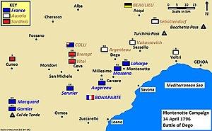 Battle of Ceva - Montenotte Campaign, 14 April 1796