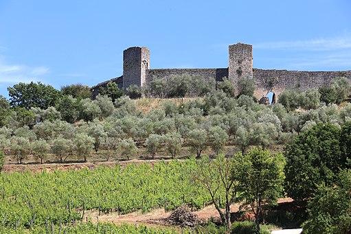 Monteriggioni, veduta delle mura