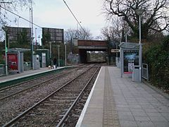 Morden Road tramstop look east.JPG