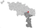 Morlanwelz Hainaut Belgium Map.png