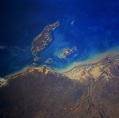 Mornington Island aus dem Weltraum betrachtet