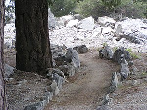 Meditation path at Mount Baldy Zen Center.