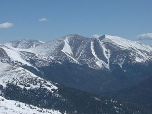 Mount Parnassus (Colorado) - Mount Parnassus, as seen from Loveland Ski Area