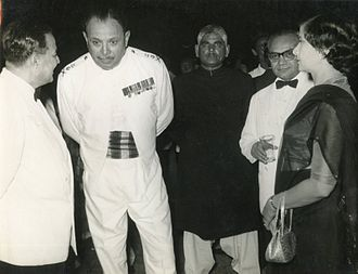 Ayub Khan (President of Pakistan) - Ayub Khan in 1958 with H. S. Suhrawardy and Mr. and Mrs. S. N. Bakar.