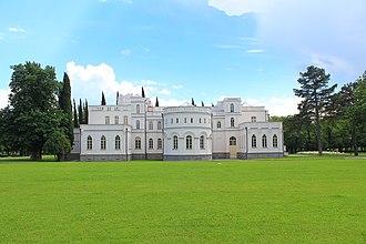 "House of Mukhrani - ""Château Mukhrani"", the Mukhranbatoni palace in Mukhrani, built from 1873 to 1885 and restored in 2012."