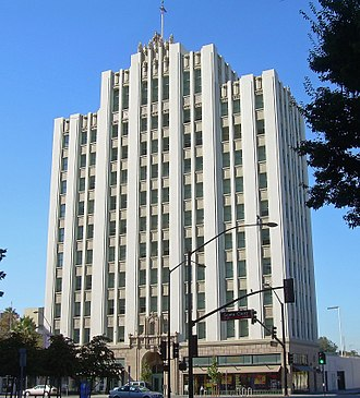 Downtown San Jose - The Art Deco Medico-Dental Building was built in 1928.