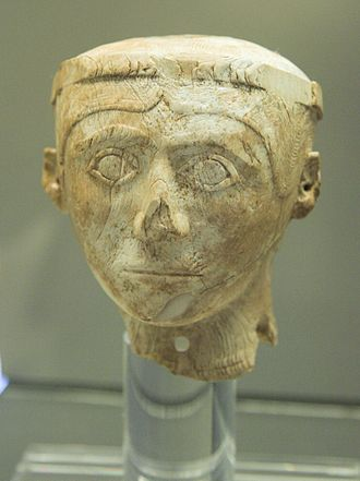 Helladic chronology - Ivory head, Late Helladic 1250–1180 BC.