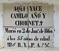 Nínxol a Guadassuar. Làpida amb rajola valenciana del segle XIX (1860).jpg