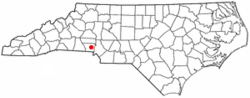 Location of Lowell, North Carolina