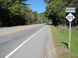 North Carolina Highway 105 - Northbound NC 105, in Linville
