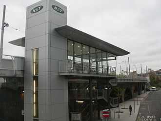 Nottingham station - The former Station Street tram stop