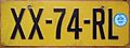 NETHERLANDS 1991 -PASSENGER LICENSE PLATE FOR AMERICAN VEHICLE - Flickr - woody1778a.jpg