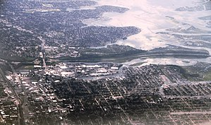 Suburb - Nassau County, Long Island is emblematic of continuous sprawl in an inner suburb of New York City, United States.