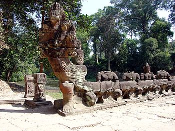 Naga Bridge West Causeway Preah Khan Angkor1011.jpg