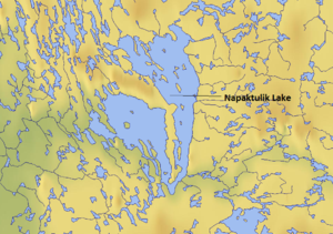 Napaktulik Lake - Map