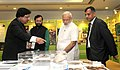 Narendra Modi visiting the exhibition at the inauguration ceremony of the Conference of State Environment & Forest Ministers, in New Delhi. The Minister of State for Environment (2).jpg